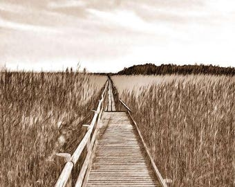 Photo print: Footbridge on the Lake