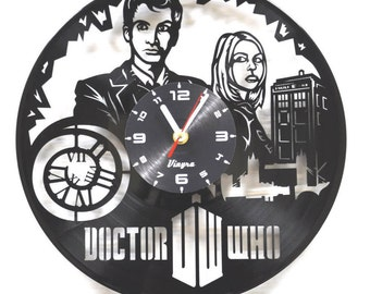 DOCTOR WHO Vinyl Clock Movie Decor Dr Who Art Vinyl Record Art Doctor Who Tardis Best Birthday Gift Doctor Who Wall Decal Home Wall Clock