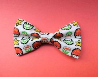 Mario Bros Powerup Hair Bow or Bow tie
