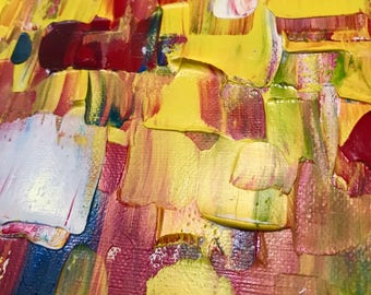 Oil Abstract Painting ,Original Art 12x24