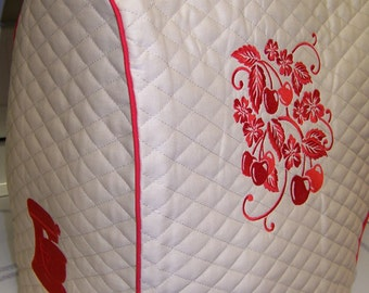 """Quilted Embroidered Kitchen Aid Professional """"Bowl Lift"""" Stand Mixer Cover"""