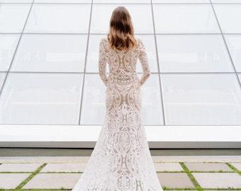 Winter wedding dress etsy quick view more colors santorini gown winter wedding junglespirit Gallery