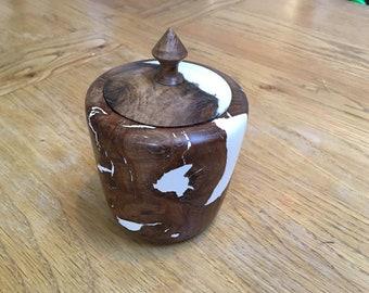 Reclaimed Oak and resin Pot