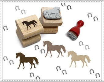 Rubber stamp set HORSE & TRACKS