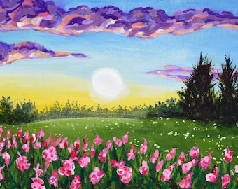 Spring Landscape Original Acrylic Painting - 10