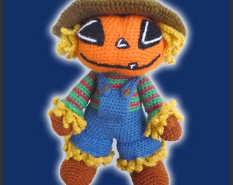 Amigurumi Pattern Crochet Scarecrow DIY Instant Digital Download PDF