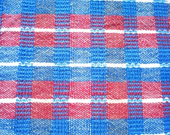 Kitchen towel, dish towel, hand towel, hand woven tea towel, all cotton, plaid