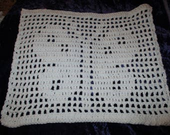 Hand Crocheted Large Washcloth
