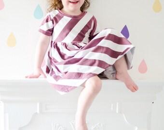 Berry Diagonal Stripe Dress, girls dress, toddler, handmade, dresses, baby dress, newborn, baby gift, girls dress, stripe, girls clothes,