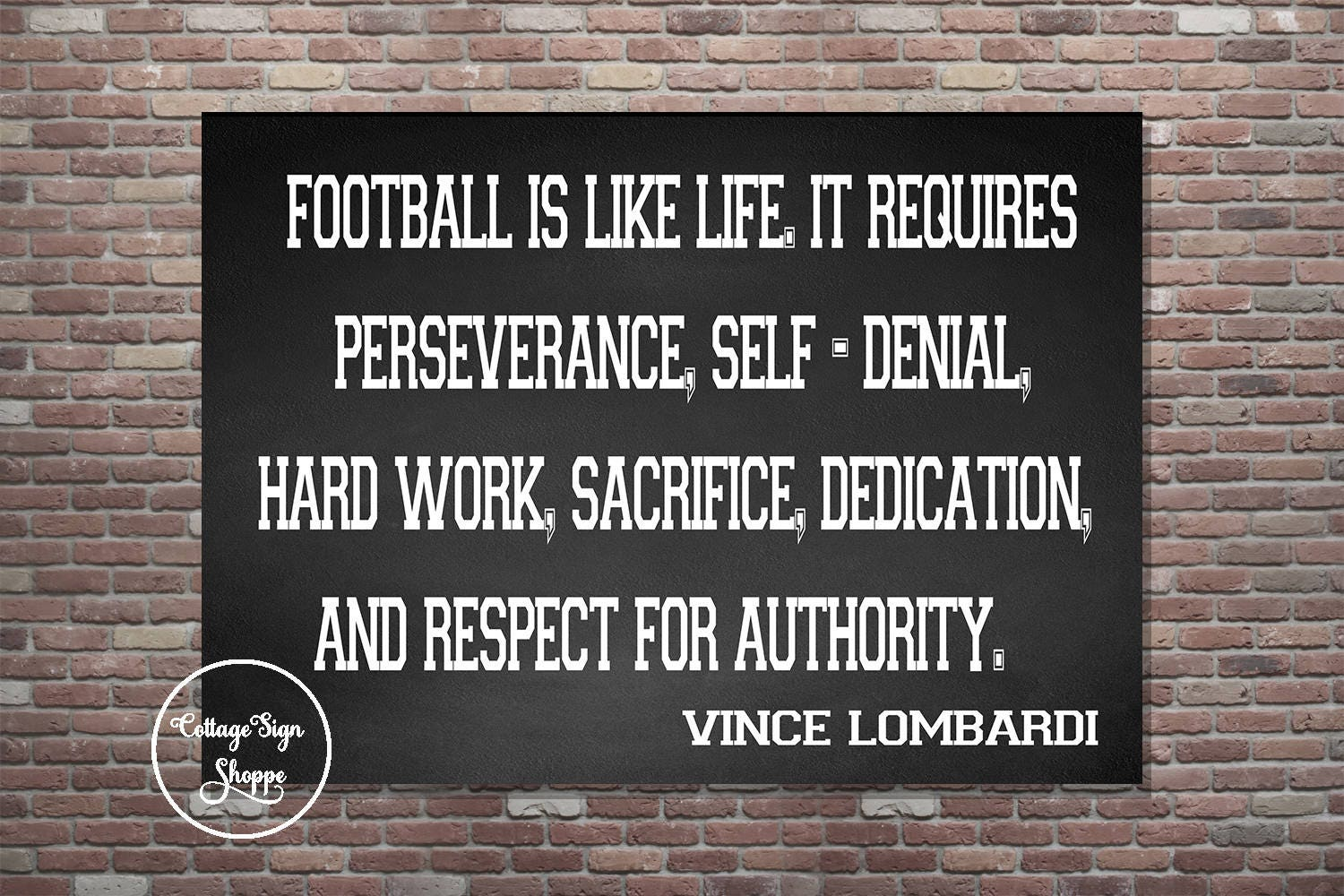 Life Sacrifice Quotes Football Is Like Life Vince Lombardi Quote Vince Lombardi
