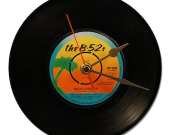 "THE B-52 Vinyl clock ""S""Rock Lobster""45tours"