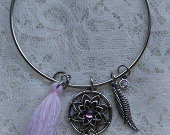 Native American theme bangle bracelet.