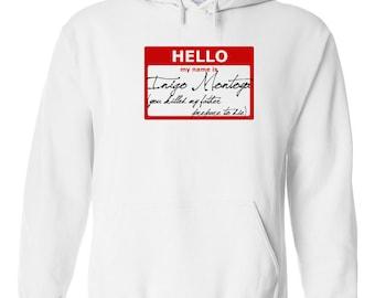 Hello My Name is Inigo Montoya prepare to die funny movie quote 80s 90s party vintage retro - Hoodie - Hooded Sweatshirt - 128