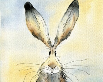 OFFER Two limited edition hare prints