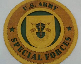 Army Special Forces Wall Plaque Wooden Model