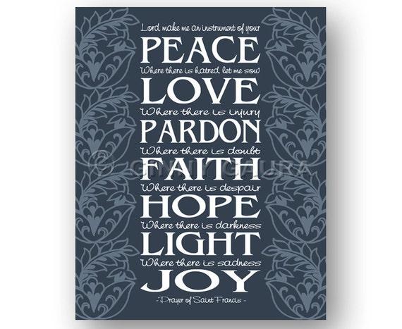 sc 1 st  Etsy & Prayer of St. Francis Art 8x10 Instant Printable Digital
