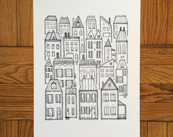 Little Neighborhood, 13x19 and 8.5x11, Art Print