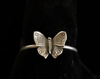 RARE antique french butterfly ring