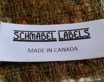 100 Custom Clothing Labels - Silky Satin with FREE cutting - Woven Edges, Fabric Labels, sew-in custom care labels, garment labels