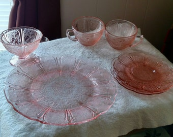 Vintage Cherry Blossom Dishes