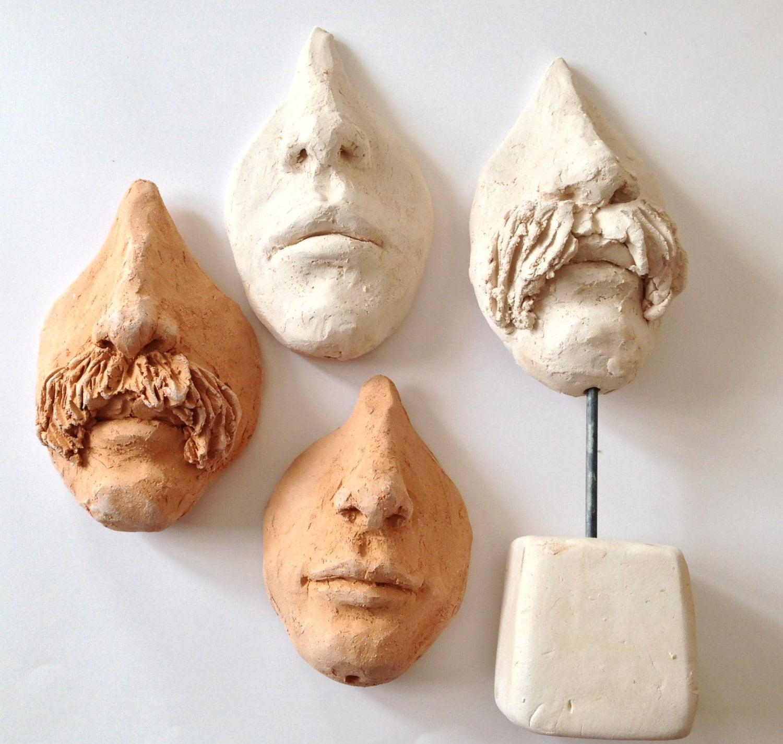 Brillen Halter Skulptur Gesicht von einem Mann mit Schnurrbart