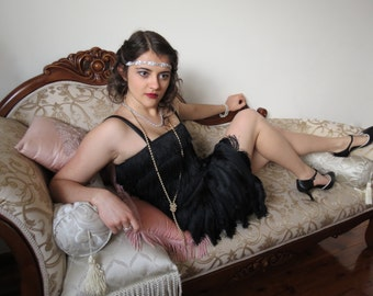Made To Order 1920s Style Flapper Fringe Great Gatsby Dress With Straps Various Colours