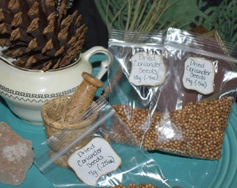 Organic Dried Coriander Seeds, Herbal Remedy, Digestive aid, Aphrodisiac, Infection prevention