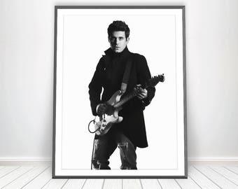 John Mayer Print * John Mayer Poster John Mayer Lyrics Singer Poster Guitarist John Mayer Art Guitar Player John Mayer Decor Mayer Picture
