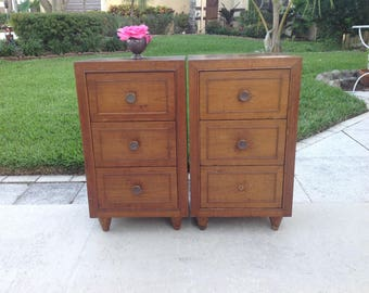 MID CENTURY MODERN NIGHTSTANDs Pair of Modern Night Stands Side Tables Ready for a Re do / Mid Century Modern Style at Retro Daisy Girl