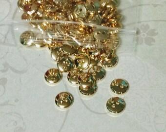 Gold Button Bag