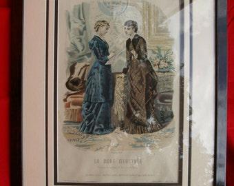 Antique Fashion Print - La Mode Illustré - 1880
