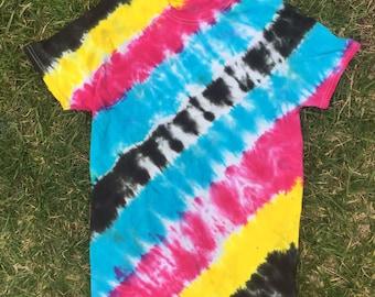 Tie Dye T-shirt CMYK Stripes
