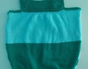 Handmade knitted romper-baby pants