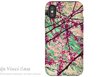 Spring Floral iPhone X Tough Case - Dual Layer Protection for iPhone 10 - Eternal Spring by Da Vinci Case