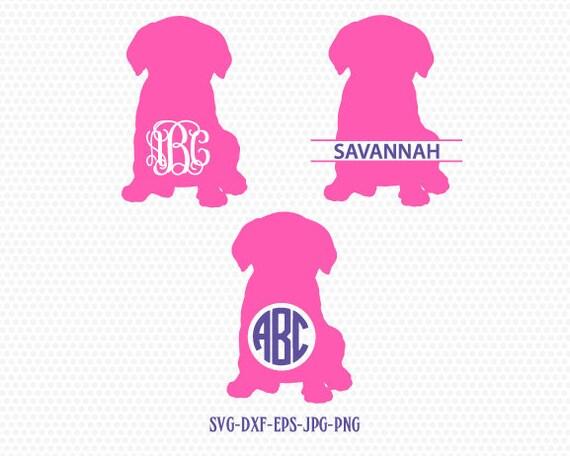 Puppy dog monogram frames svg, Pet monogram frame, Cute little dog ...