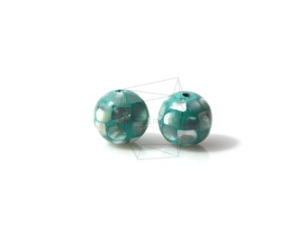 PEA-010-G/4PCS/ Mother of Pearl Mosaic round ball/10mm/Mother of Pearl ball beads