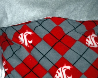 WA State Cougar snuggle sleeping bag 25 by 25 made  and ready to ship