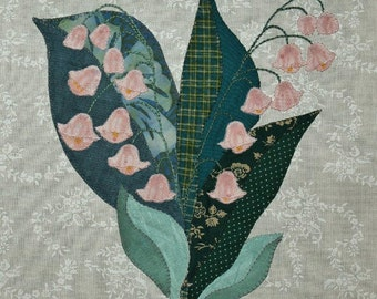 Lily-of-the-Valley Appliqué Block