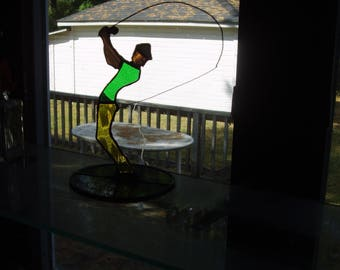 Stained Glass Fisherman