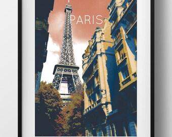 Paris Poster 11x17 18x24 24x36