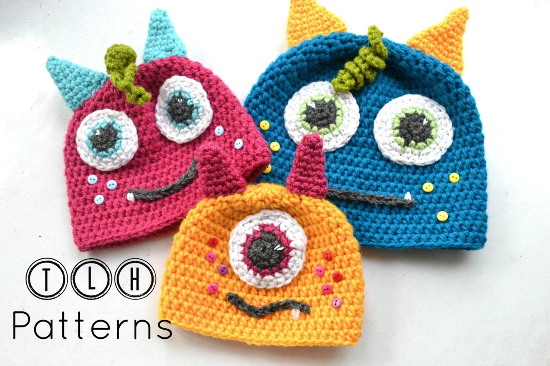 Luxury Crochet Monster Hat Pattern Frieze - Sewing Pattern for ...