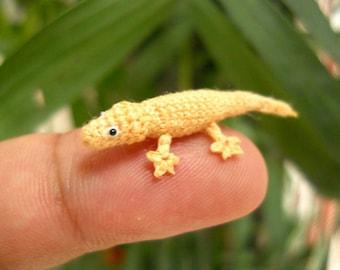Miniature Lizard - Tiny Crochet Mini Gekko Amigurumi Tiny Animals - Made To Order