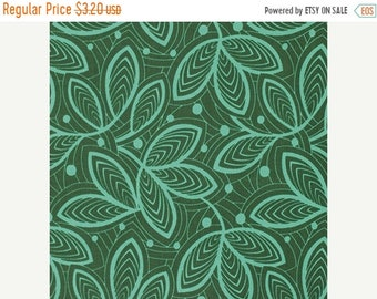 Spring Cleaning Leaf Lines in Jade from the Violette Collection by Amy Butler  - Half Yard