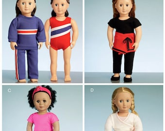 """18"""" Doll Clothes Pattern, McCalls 7521- Sports Clothes-Fits American Girl Dolls"""