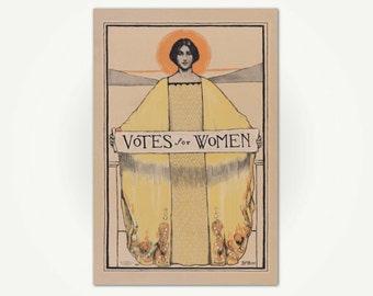 Votes For Women Poster Print - Women's Suffrage Poster Art