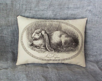 Primitive bunny tuck | farmhouse pillow tuck | rabbit pillow | farmhouse primitive pillow | Easter pillow tuck | spring cupboard tuck