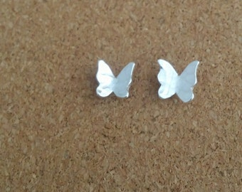 Butterfly earrings Butterfly jewelry Earrings Silver butterfly Silver earrings Stud  Summer earrings