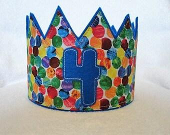Birthday Crown, Felt Birthday Crown, Birthday Party Crown, Kids Birthday Hat, Birthday Party Hat, Adjustable party Crown, kids Crown