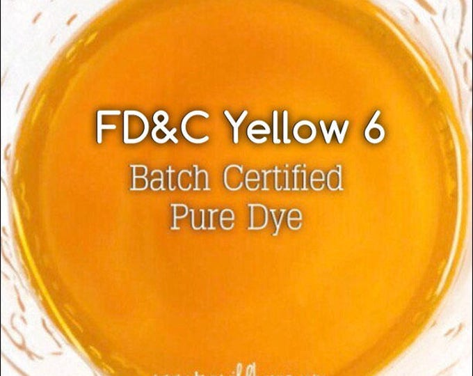 CLEMENTINE Water Soluble DYE, Batch Certified FD&C Yellow 6, 93% Pure Dye, Cosmetic Powdered Water Colorant, 1 oz