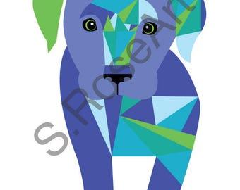 Labrador Puppy Digital Pet Portrait